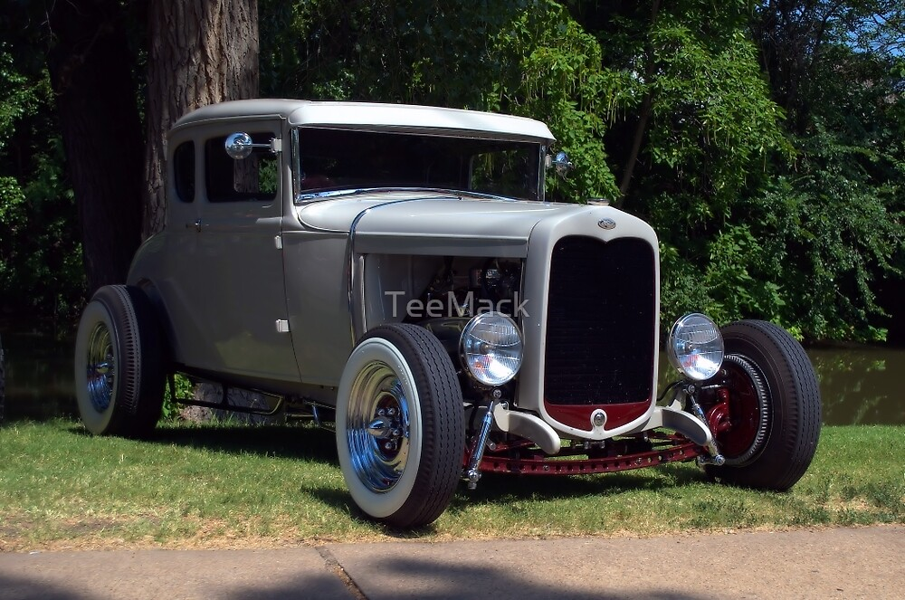 1930 Ford 5 Window Hot Rod by TeeMack