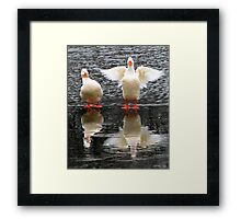 Hey, Watch the Wing! Framed Print