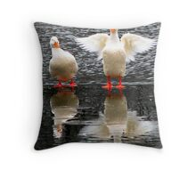 Hey, Watch the Wing! Throw Pillow