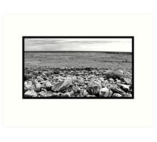 THE AUSTRALIAN DESERT LANDSCAPE  Art Print