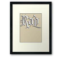 Rap Music Stone Framed Print