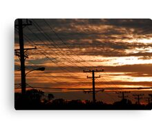 Telephone Sunset Canvas Print