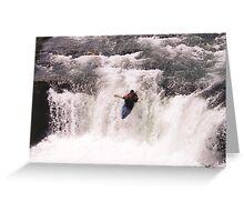 Kayak Leap II Greeting Card