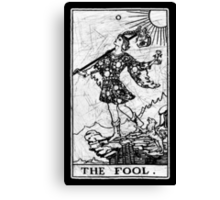 The Fool Tarot Card - Major Arcana - fortune telling - occult Canvas Print