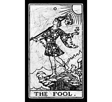The Fool Tarot Card - Major Arcana - fortune telling - occult Photographic Print