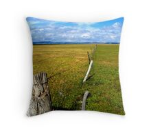 Lake George Fence Throw Pillow