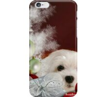 Snowdrop the Maltese at Christmas iPhone Case/Skin