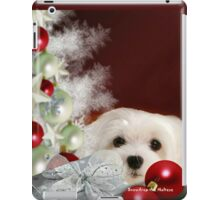Snowdrop the Maltese at Christmas iPad Case/Skin