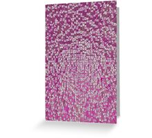 3D Cube Effect - Pink Greeting Card
