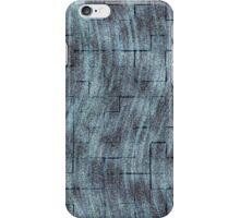 Curvy Cloudy Squares - Blue iPhone Case/Skin