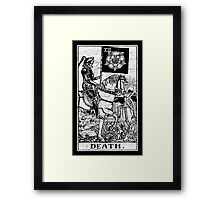 Death Tarot Card - Major Arcana - fortune telling - occult Framed Print