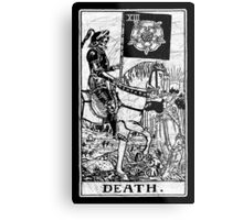 Death Tarot Card - Major Arcana - fortune telling - occult Metal Print