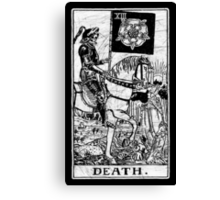 Death Tarot Card - Major Arcana - fortune telling - occult Canvas Print