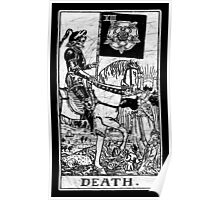 Death Tarot Card - Major Arcana - fortune telling - occult Poster