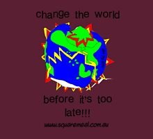 Change the world Womens Fitted T-Shirt