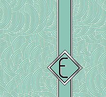 1920s Blue Deco Swing with Monogram letter E by CecelyBloom