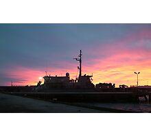 hmas yarra sunrise Photographic Print