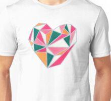 Faceted Heart Unisex T-Shirt