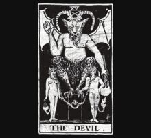 The Devil Tarot Card - Major Arcana - fortune telling - occult by createdezign