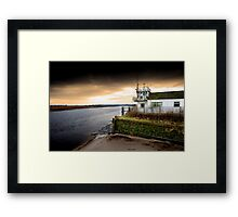 Old boat house on River Mersey Framed Print