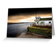 Old boat house on River Mersey Greeting Card
