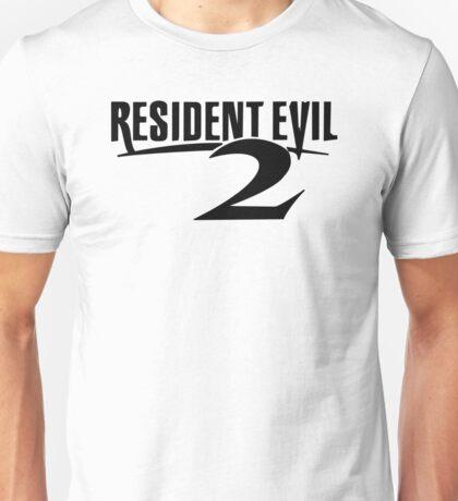 Resident Evil 2 Logo, Black Unisex T-Shirt