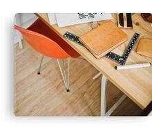 Designer desk Canvas Print