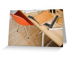 Designer desk Greeting Card