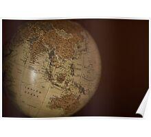 Vintage Globe Poster