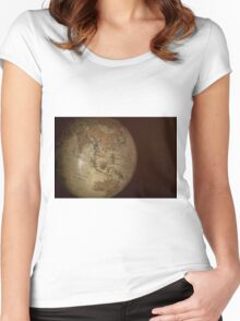 Vintage Globe Women's Fitted Scoop T-Shirt