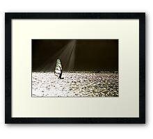 Wind Surfer in sunbeam Framed Print