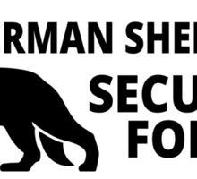 German Shepard Security - DETER BURGLARS Sticker