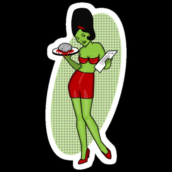Zombie Waitress by BigFatRobot