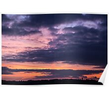 Cloudscape and Sunset Poster