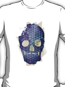 Purple Skull with Moustache T-Shirt