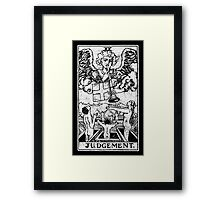 Judgment Tarot Card - Major Arcana - fortune telling - occult - Judgement Framed Print