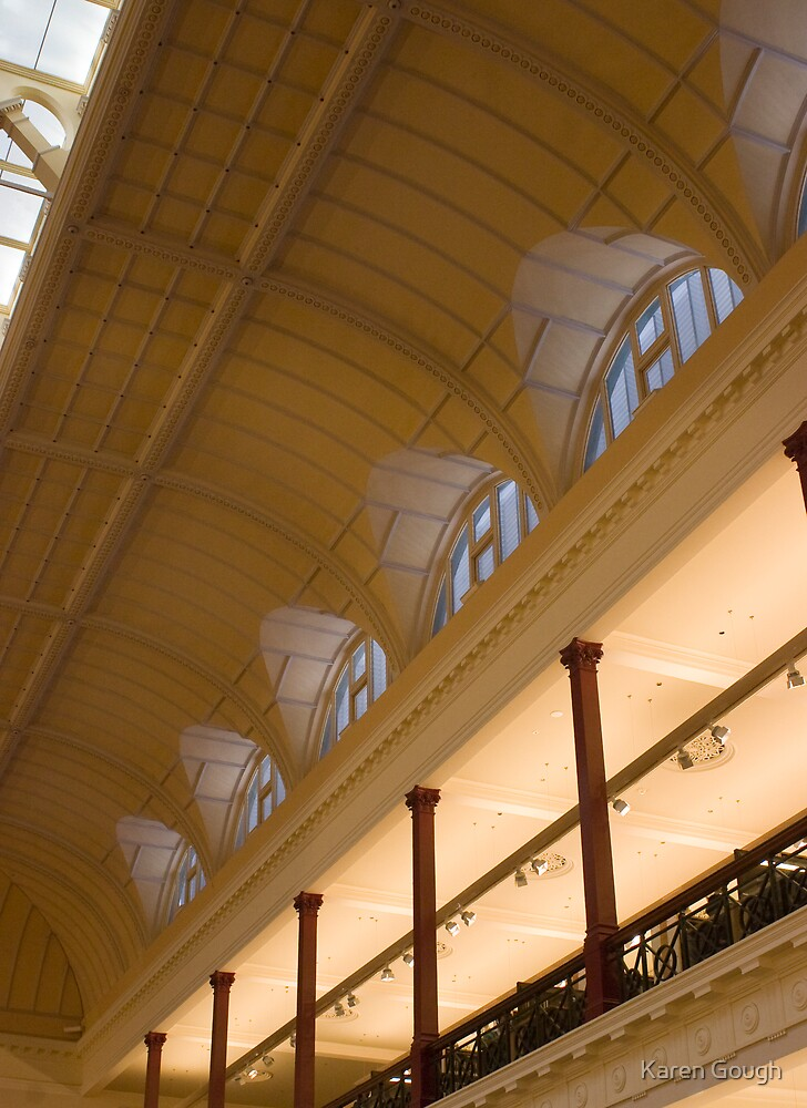 Reading room, State Library of Victoria by Karen Gough