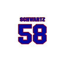 National football player Bryan Schwartz jersey 58 Photographic Print