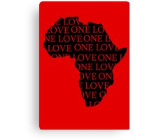 AFRICA ONE LOVE Canvas Print