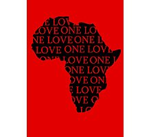 AFRICA ONE LOVE Photographic Print