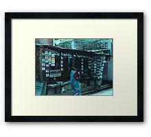 Nepalese Spice Stall Framed Print