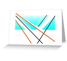 Breeze Urban Abstract Harbour Minimalist Landscape Blue White Greeting Card