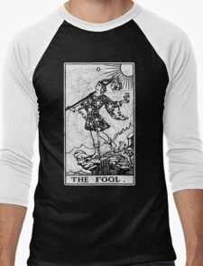 The Fool Tarot Card - Major Arcana - fortune telling - occult Men's Baseball ¾ T-Shirt
