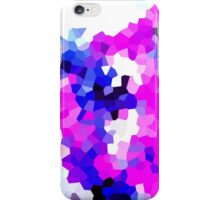 Mask Pink Abstract Pixel Digital Crystal Art iPhone Case/Skin