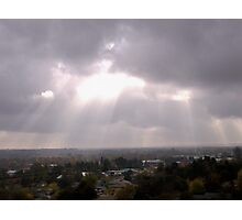 Sun Spilling Through Clouds Photographic Print