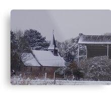 A Winter's Scene Metal Print