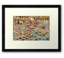 Psychedelic store Framed Print