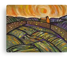 Enclosed field at sunrise (from my original acrylic painting) Canvas Print