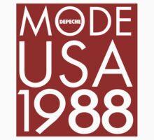 Depeche Mode : USA 1988 - Red by Luc Lambert