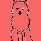 Minimalist Red Fox by zoel